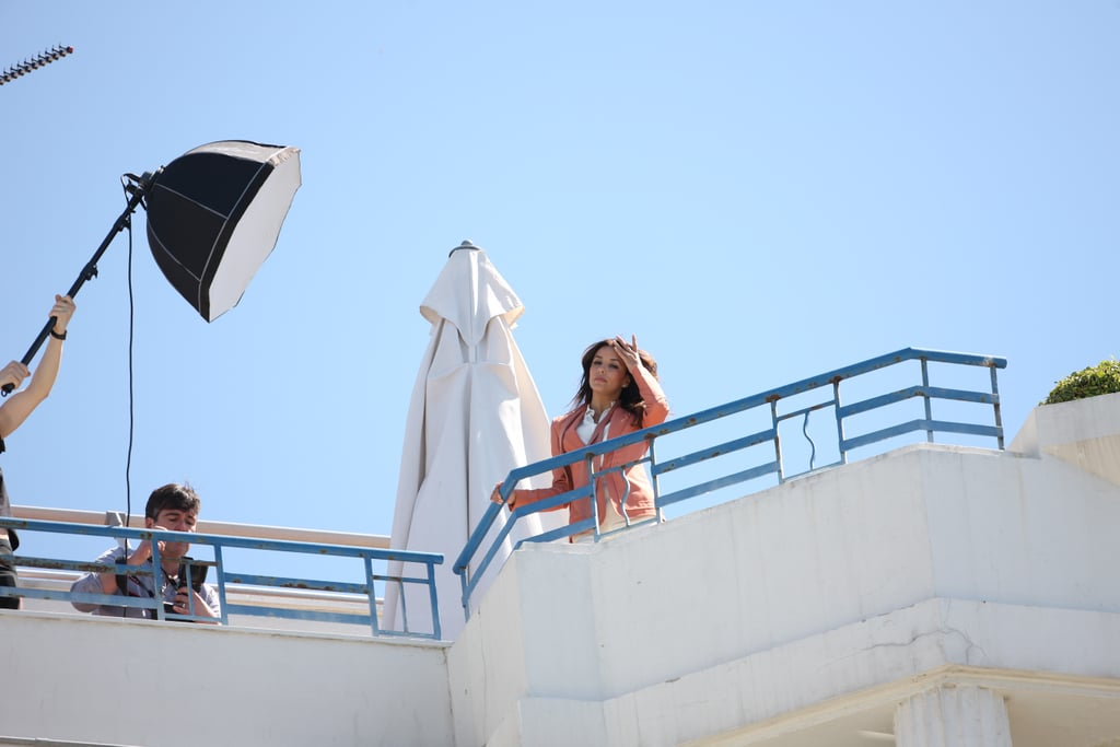Eva Longoria posed for a photo shoot in Cannes.