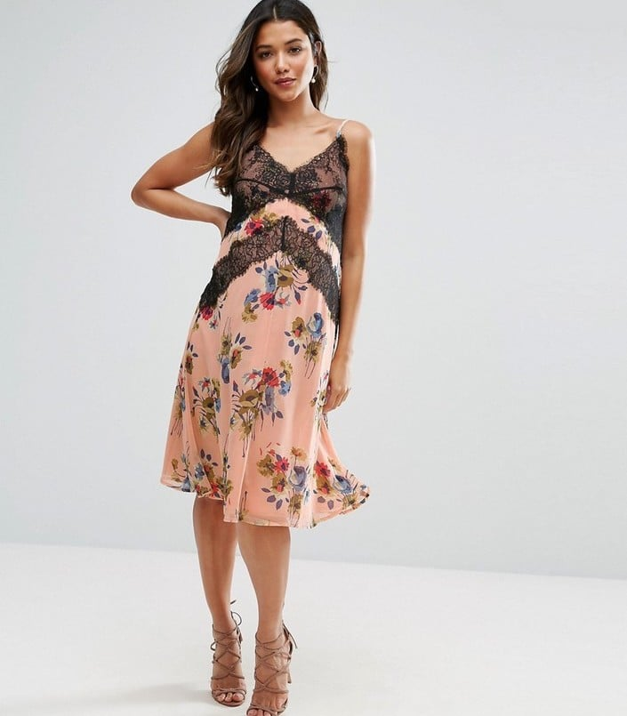 2a335e3731ce7 Asos Cami Dress With Lace Detail in Floral Print | Summer Maternity ...
