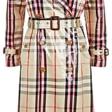 Burberry Eastheath Laminated Check Trench Coat
