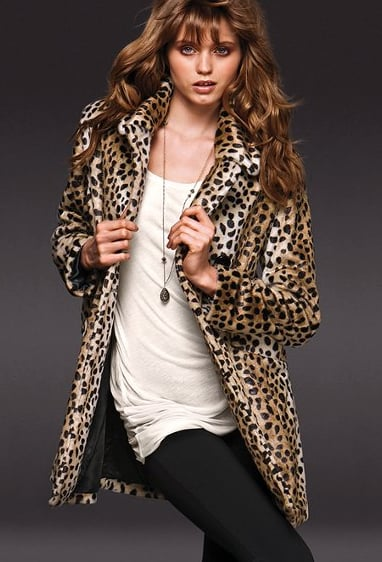 Victoria's Secret Leopard-Print Faux Fur Coat ($178)