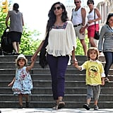 Camila, Levi, and Vida spent an afternoon visiting Central Park.