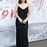 The singer wore a black slip dress when she attended the Serpentine Gallery Summer Party.