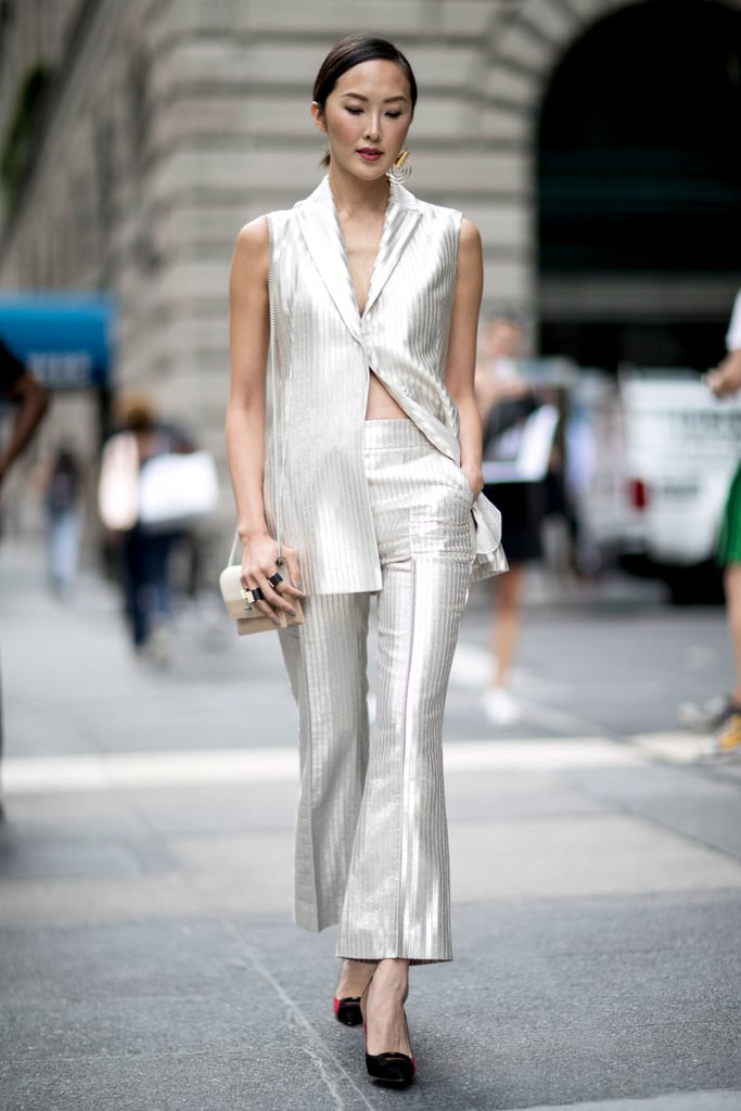Chriselle Lim at New York Fashion Week