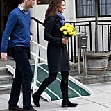 Kate Middleton walked to a car in London.
