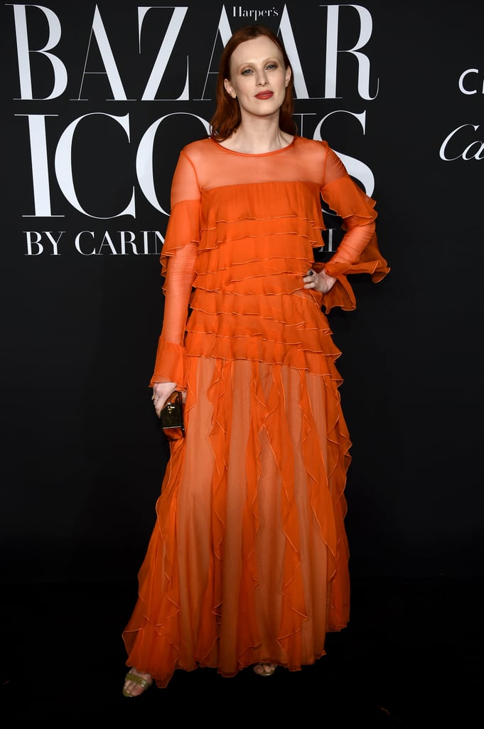 Karen Elson at the Harper's Bazaar ICONS Party During New York Fashion Week