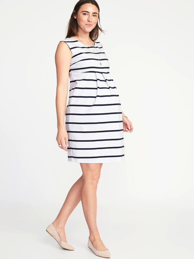 e1044fa57e4a4 Navy and White Striped Dress | Plus-Size Maternity Dresses ...
