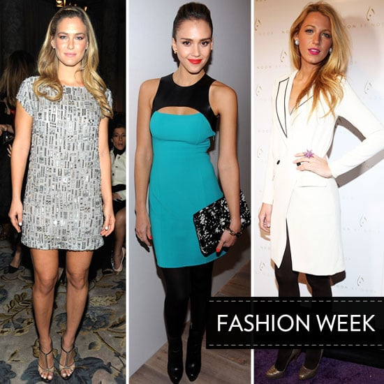 Celebrities at New York Fashion Week 2012