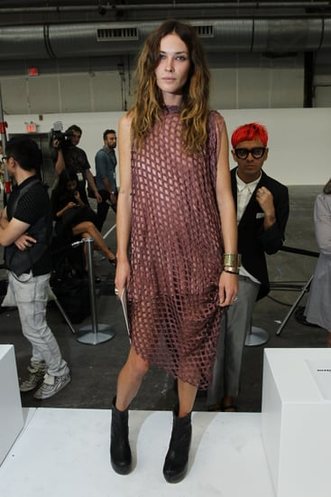 Erin Wasson Wears Scanlan & Theodore to the Alexander Wang Spring 2011 New York Fashion Week Show