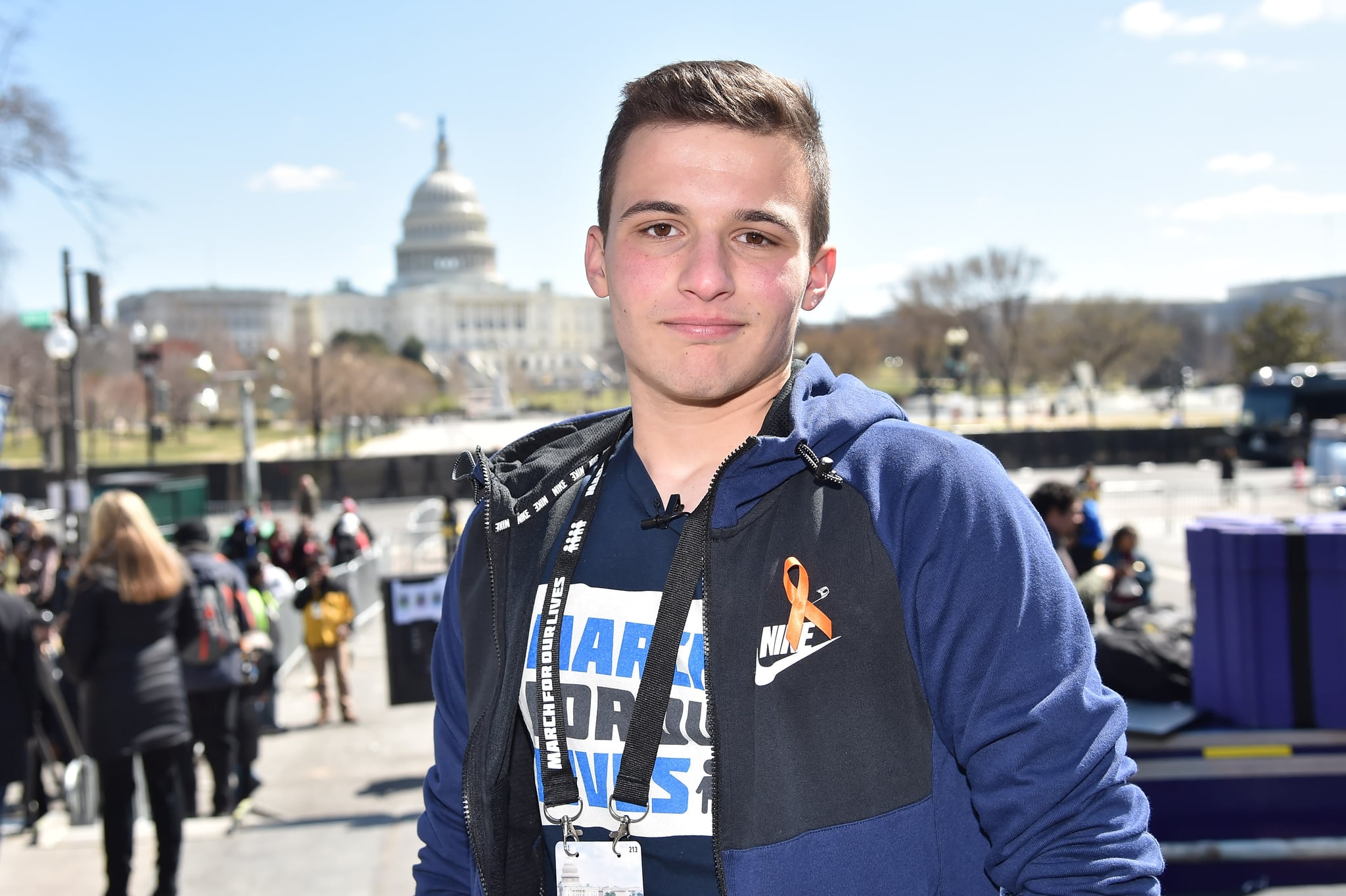 WASHINGTON, DC - MARCH 24:  Marjory Stoneman Douglas High School student Cameron Kasky attends March For Our Lives on March 24, 2018 in Washington, DC.  (Photo by Kevin Mazur/Getty Images for March For Our Lives)