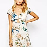Love Dress With Keyhole In Large Bloom Floral Print