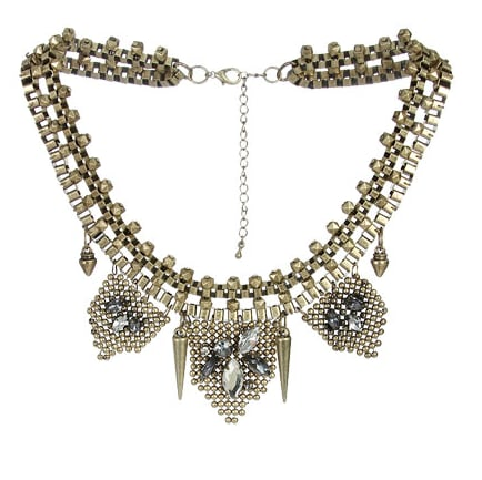 Give your neckline maximum impact with this Arden B Stone Bib Mesh Necklace ($34).