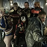 Here's the first official picture we got of the whole cast: Margot Robbie as Harley Quinn, Adewale Akinnuoye-Agbaje as Killer Croc, Karen Fukuhara as Kitana, Joe Kinnaman as Rick Flagg, Jai Courtney as Captain Boomerang, and Will Smith as Deadshot.