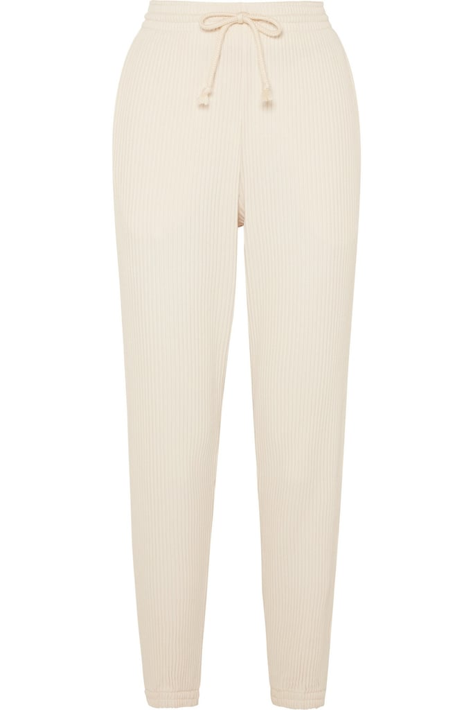 Baserange Ribbed Organic Cotton-Fleece Track Pants