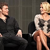 "Joseph Morgan ""I can't guarantee that!"" — On whether his character Klaus is done staking his sister Rebekah (Claire Holt), at the panel for The Originals"