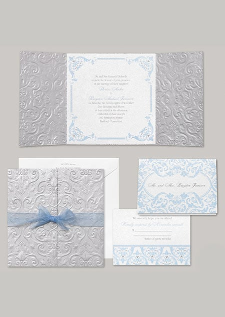 """Cinderella's stationery, """"Happily Ever After,"""" fits the classic princess look perfectly —no fairy godmother required."""