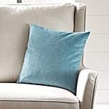 Stone & Beam Striated Velvet Linen-Look Decorative Throw Pillow