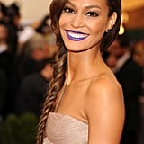 Do You Like Joan Smalls's Purple Lipstick?