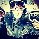 Madonna cozied up to the camera with two of her skiing pals during their Winter ski vacation. Source: Instagram user madonna