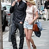 Kate Bosworth wore a cute brown bag and boots on her lunch date with boyfriend Michael Polish.