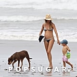 Gisele Bundchen wore a bikini on the beach with Ben.