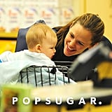 Jennifer Garner leaned in close to baby Samuel Affleck as they shopped for groceries in September.