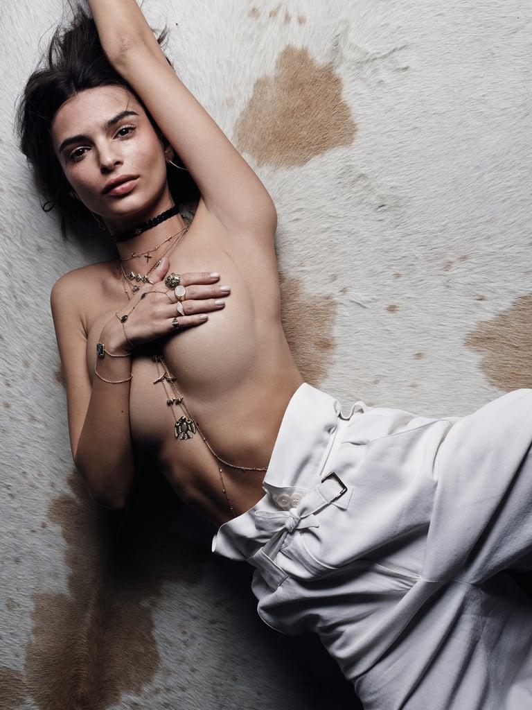 Emily Ratajkowski Jacquie Aiche Jewelry Campaign Spring ...
