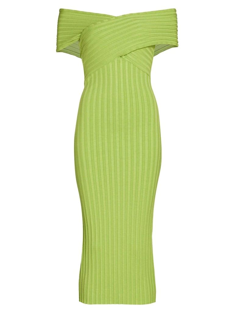 Simon Miller Jago Off-the-Shoulder Rib-Knit Dress