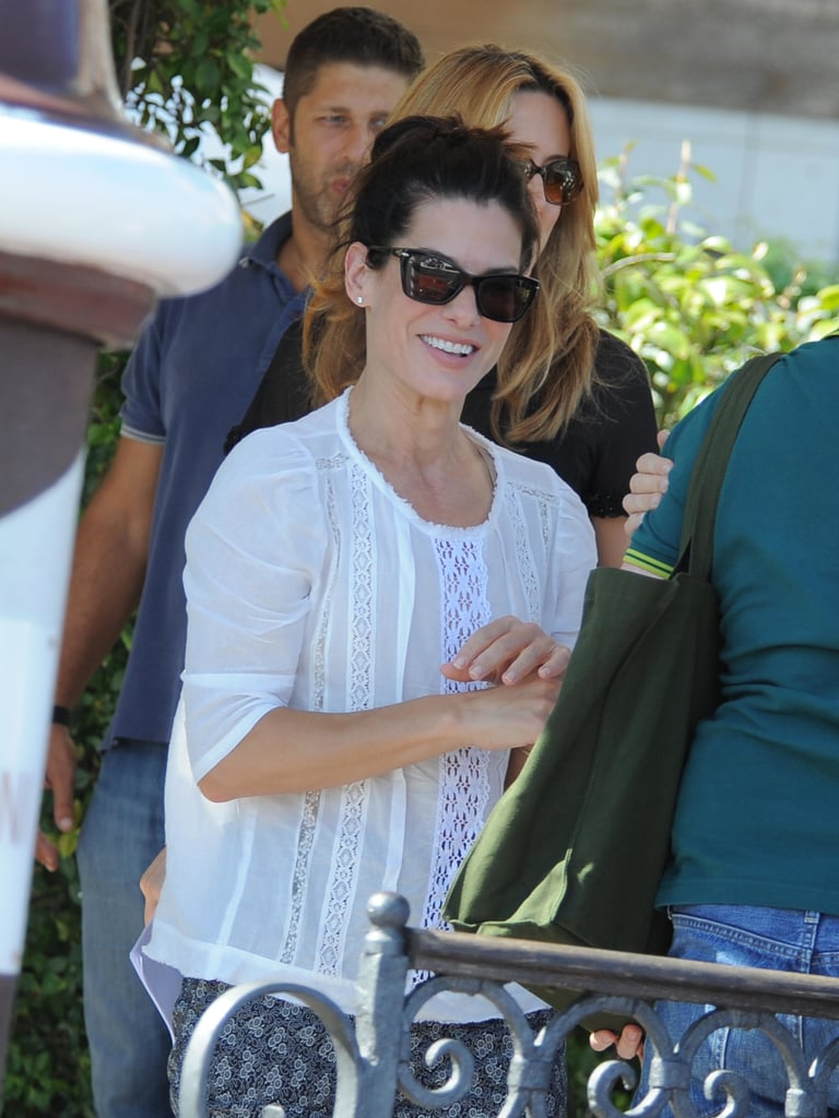 Sandra Bullock and George Clooney Cruise Into Venice
