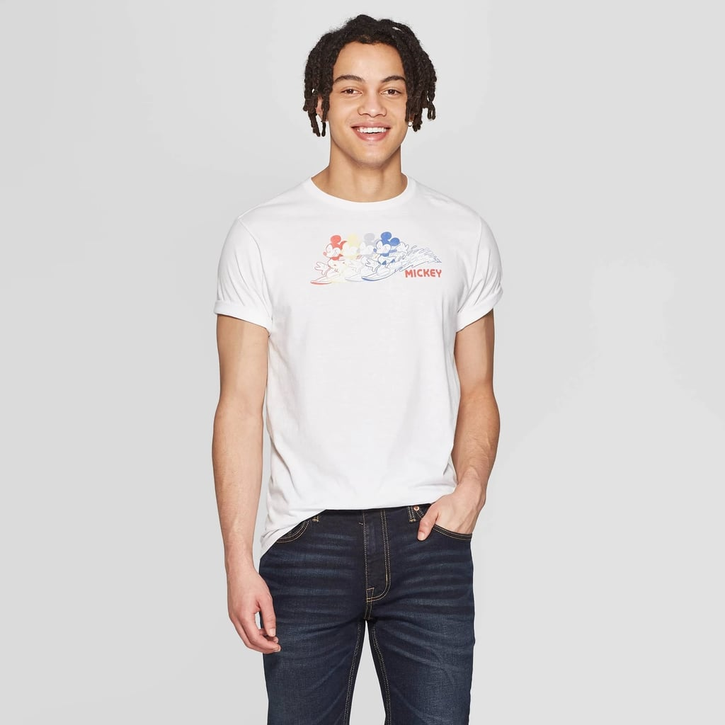 Men's Mickey Mouse Short Sleeve Crewneck Graphic T-Shirt