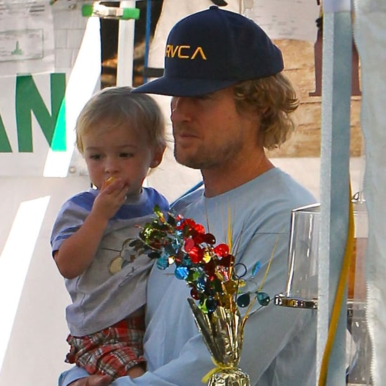 Owen Wilson With His Son Robert Ford in Malibu