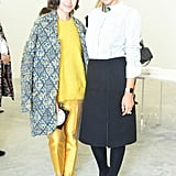 Miroslava Duma joined Delfina Delettrez at her Spring presenation in Paris.