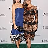 Camila Alves linked up with Adriana Lima at the Novak Djokovic Foundation dinner in NYC.