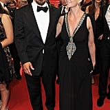 Diane and hubby Josh Brolin looked dazzling together in black.