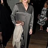 Martha Stewart wore one shade of gray at the PAMM Gala at the Pérez Art Museum on Friday.