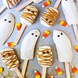 Halloween Banana Popsicles