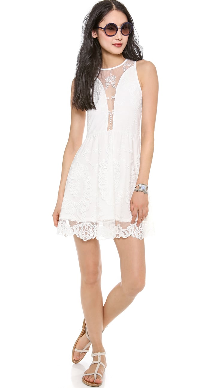 Lulu For Love & Lemons White Lace Dress