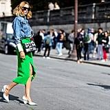 Candela Novembre at Paris Fashion Week