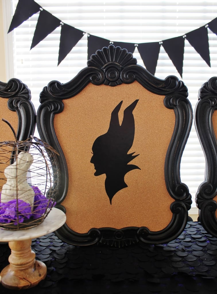 Transform your tabletop into a villainous masterpiece with Maleficent silhouette art.
