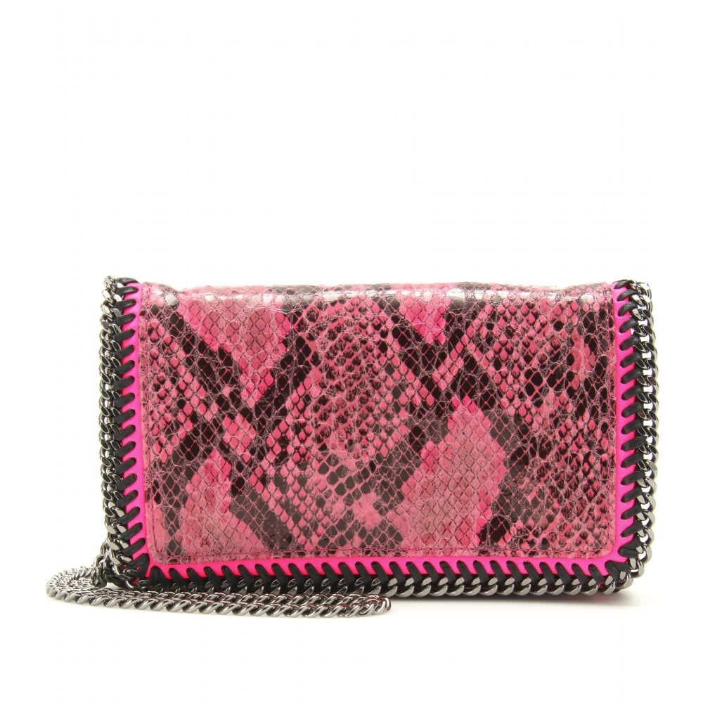 Stella McCartney's Falabella snakeprint minibag ($750) will surely make an impact at your next party appearance, or wear it with denim skinnies and a blazer for a slick off-duty look.