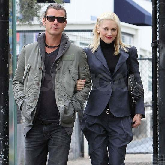 Pictures of Gwen Stefani and Gavin Rossdale at Kingston's School