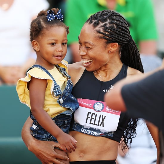 Allyson Felix Celebrates Qualifying For Olympics With Camryn