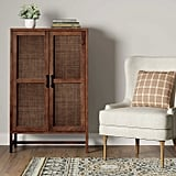 Warwick Wood and Rattan Library Cabinet