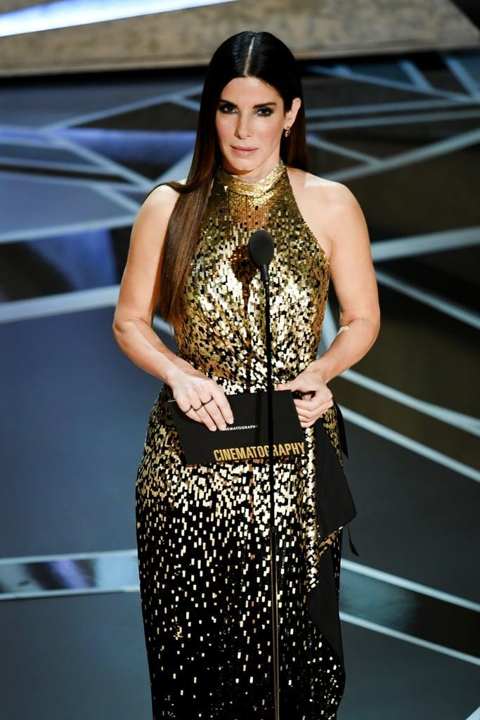 Sandra Bullock at the Oscars 2018 | POPSUGAR Celebrity