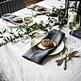 Red and green linens are so 2016. This year, Etsy shoppers are accenting their tabletop with dark and dramatic Softened Linen Napkins ($17).