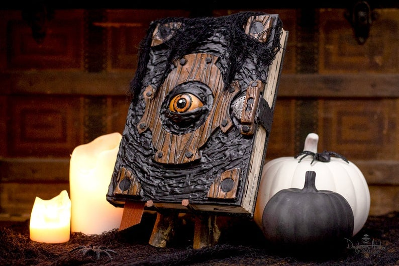 Book Of The Damned Halloween Decor Yes Etsy Has Fangtastic