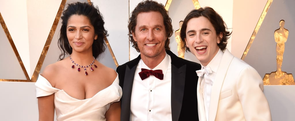 Timothée Chalamet, King of Third-Wheeling, Poses With Matthew McConaughey and Camila Alves at the Oscars