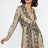 Nasty Gal Snake a Minute Plunging Dress