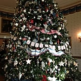 The official White House tree is located in the Blue Room, a space traditionally used as a reception site.