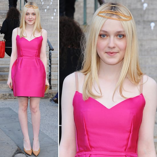 Dakota Fanning Fuchsia Dress