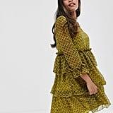 Y.A.S Petite Tiered Geometric Printed Mini Dress